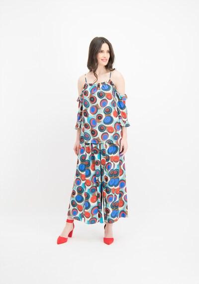 Nicowa Hose in blau / mischfarben / rot, Modelansicht