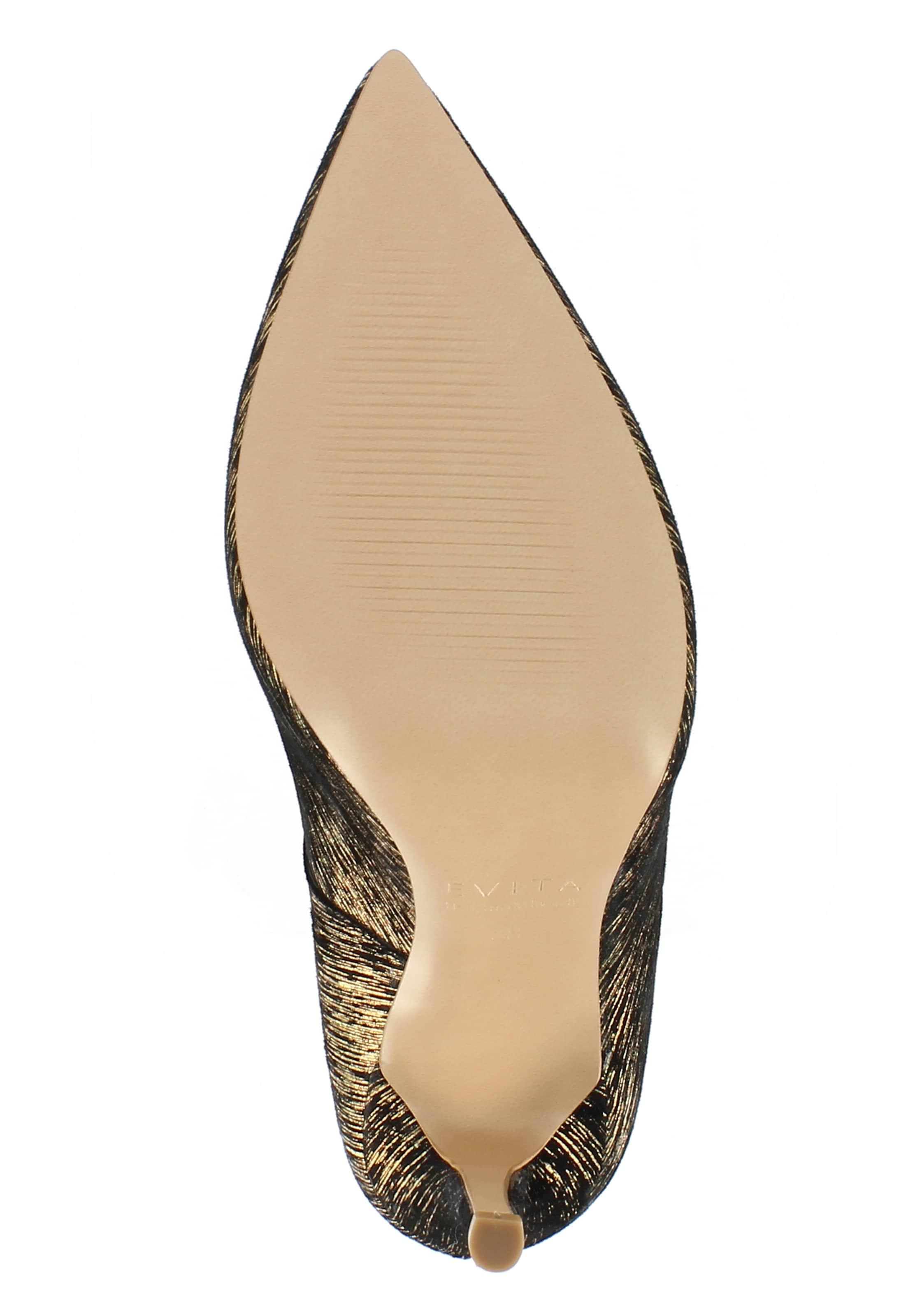 EVITA Pumps 'ALINA' in gold / schwarz