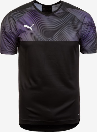 PUMA Fußballtrikot 'Cup' in dunkellila / schwarz, Produktansicht