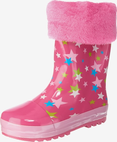 PLAYSHOES Gummistiefel 'Sterne' in pink: Frontalansicht
