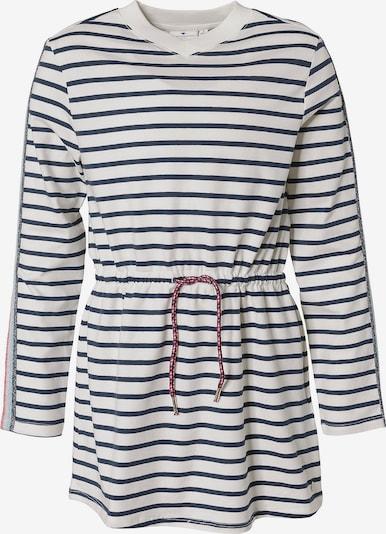 TOM TAILOR Kleid in nachtblau / weiß, Produktansicht
