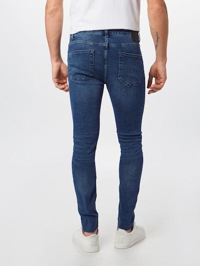 Only & Sons Jeans 'WARP SKINNY BLUE CROP PK4888' in de kleur Blauw denim: Achteraanzicht