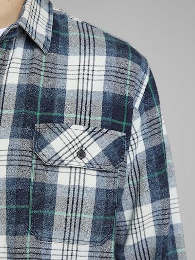 JACK & JONES Hemd in blau / türkis / schwarz / weiß: Frontalansicht