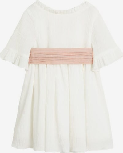 MANGO KIDS Robe 'Isabella' en blanc chiné, Vue avec produit