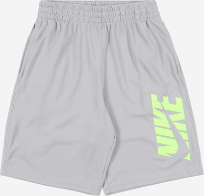 Nike Sportswear Trainingsshorts in grau / neongrün, Produktansicht