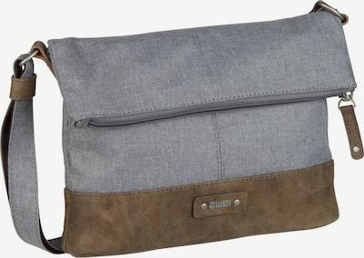 ZWEI Umhängetasche ' Olli ' in braun / grau, Produktansicht