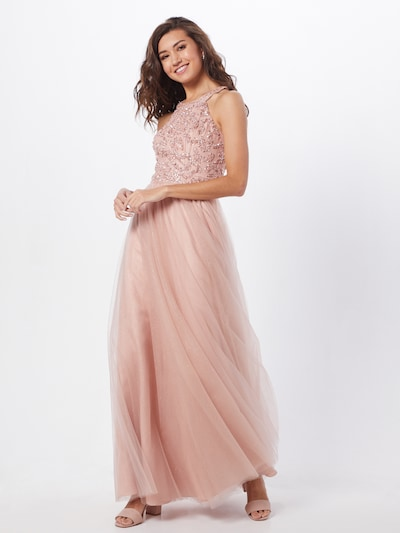 Unique Kleid in rosé / silber, Modelansicht