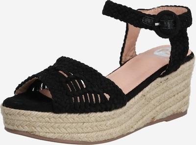 PS Poelman Sandalen met riem in de kleur Zwart, Productweergave