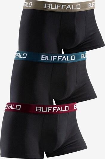 BUFFALO Boxer (3 Stck.) in dunkelbeige / petrol / dunkelrot / schwarz, Produktansicht