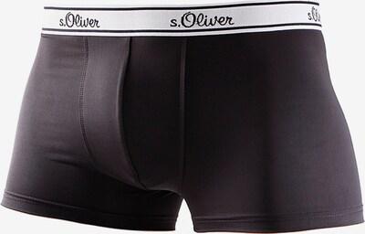 s.Oliver Boxershorts i svart: Sedd framifrån