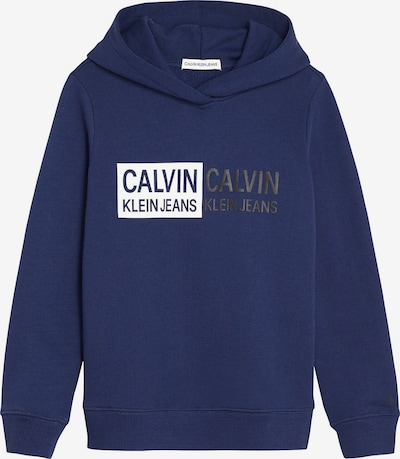 Calvin Klein Jeans Sweatshirt in marine / weiß, Produktansicht