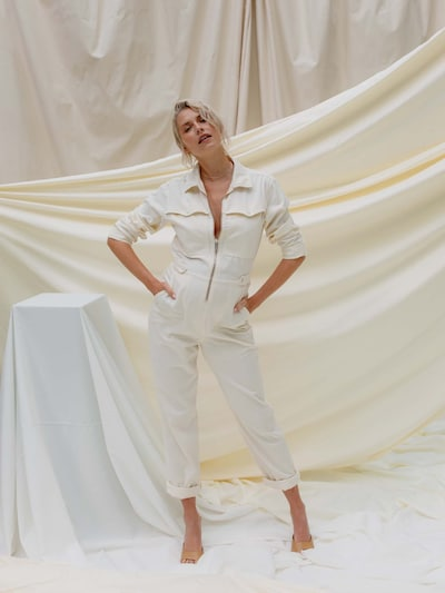 LeGer by Lena Gercke Jumpsuit 'Ariana' in creme, Modelansicht