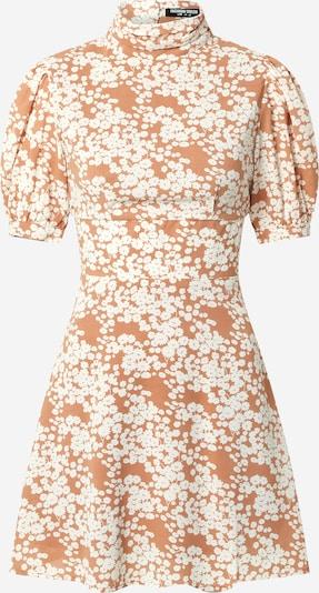 Fashion Union Robe 'Venus' en beige / blanc, Vue avec produit
