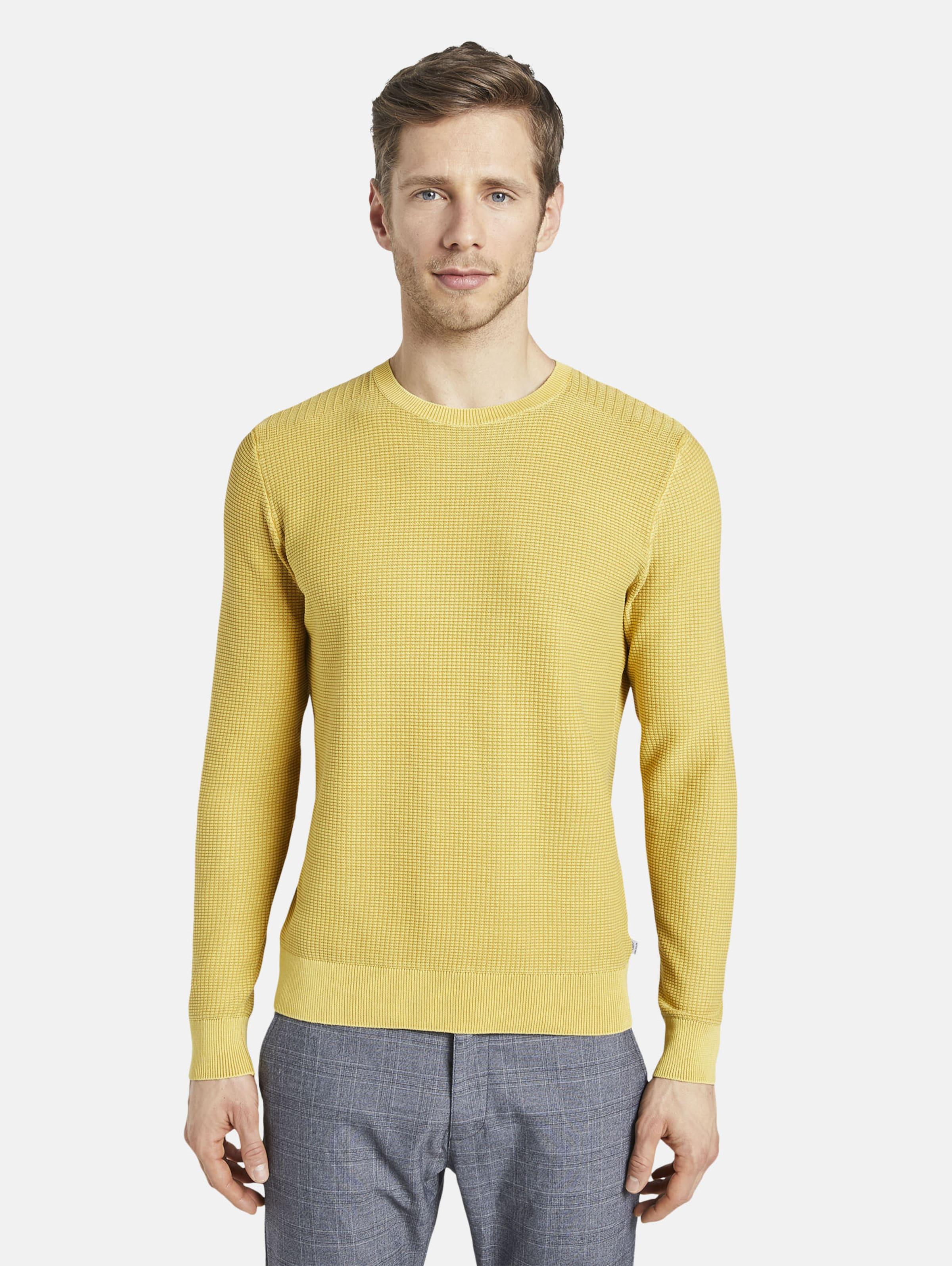 TOM TAILOR Sweater in gelb Unifarben 1017181009