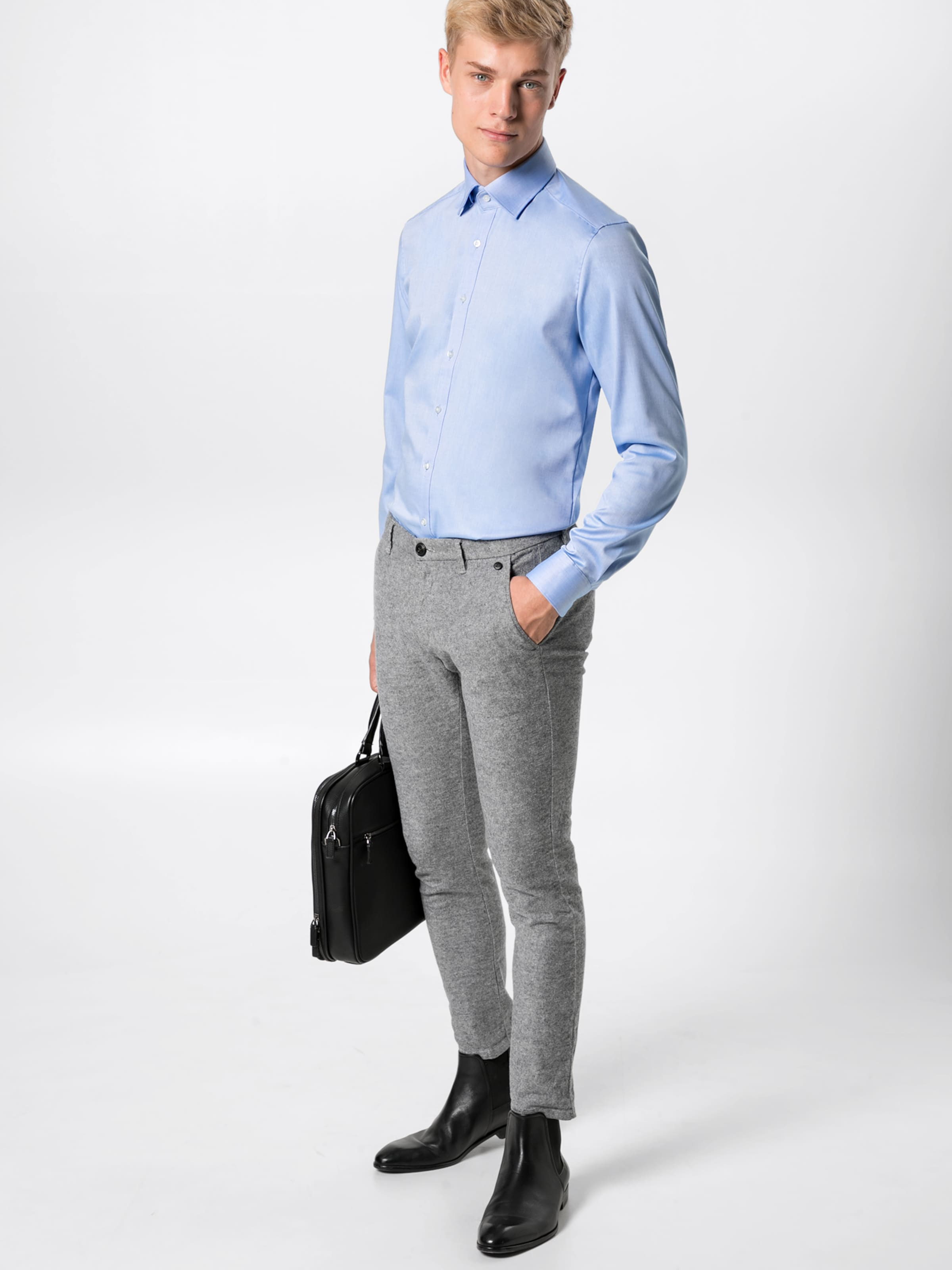 'level Twill' En Bleu Business 5 Olymp Uni Chemise rBsQhCotdx