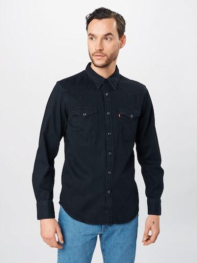 LEVI'S Hemd 'BARSTOW WESTERN STANDARD' in black denim: Frontalansicht