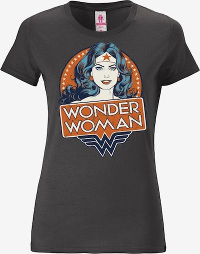 LOGOSHIRT T-Shirt 'Wonder Woman' in basaltgrau / mischfarben / orangerot, Produktansicht
