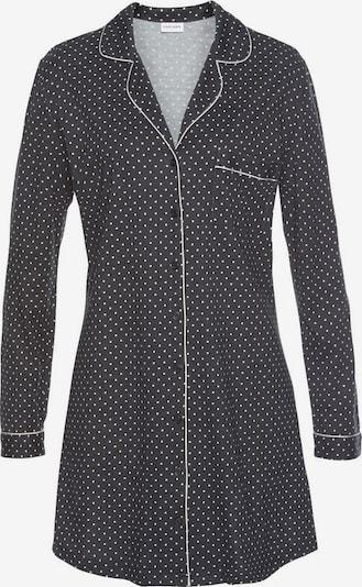 LASCANA Nachthemd in schwarz / weiß, Produktansicht