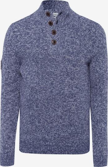 Tom Tailor Polo Team Pullover in violettblau / weiß, Produktansicht