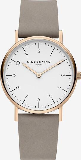 Liebeskind Berlin Analoog horloge 'LT-0167-LQ' in de kleur Rose-goud / Taupe / Wit, Productweergave
