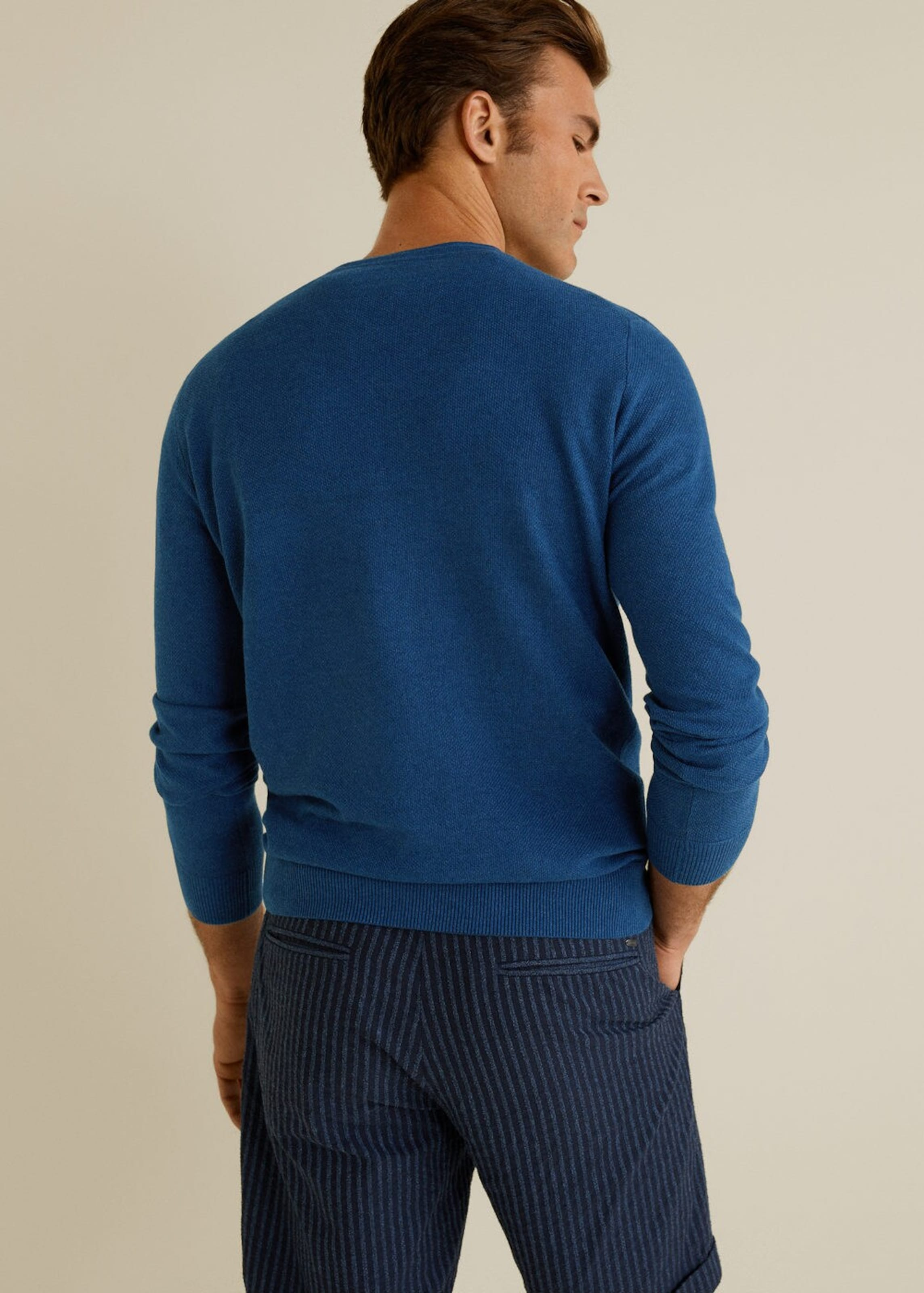 Pullover 'tenv' Mango Blau In Man 8vnOmN0w