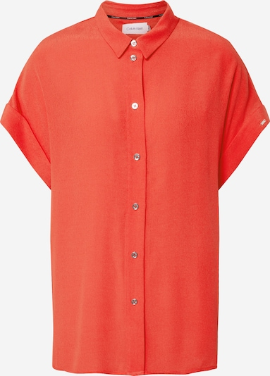 Calvin Klein Chemisier 'SS TURN UP SHIRT' en orange, Vue avec produit