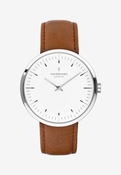 Nordgreen Armbanduhr in sepia / silber / weiß, Produktansicht