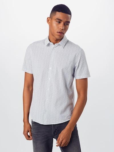 Casual Friday Overhemd in de kleur Zwart / Wit: Vooraanzicht