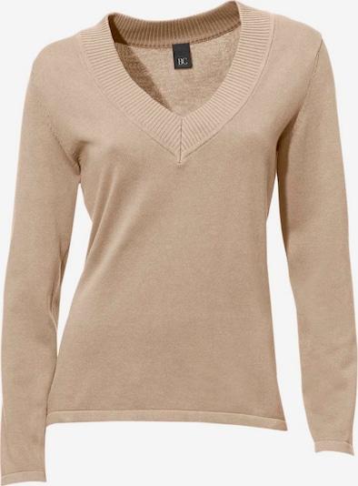 heine V-Pullover in hellbeige, Produktansicht