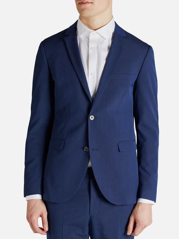 jack jones strukturierter blazer in blau about you. Black Bedroom Furniture Sets. Home Design Ideas