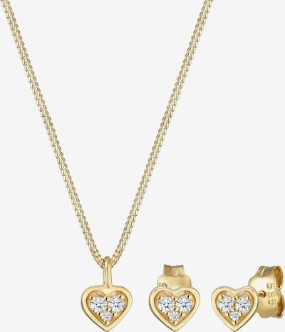 Diamore Schmuckset 'Herz' in gold, Produktansicht
