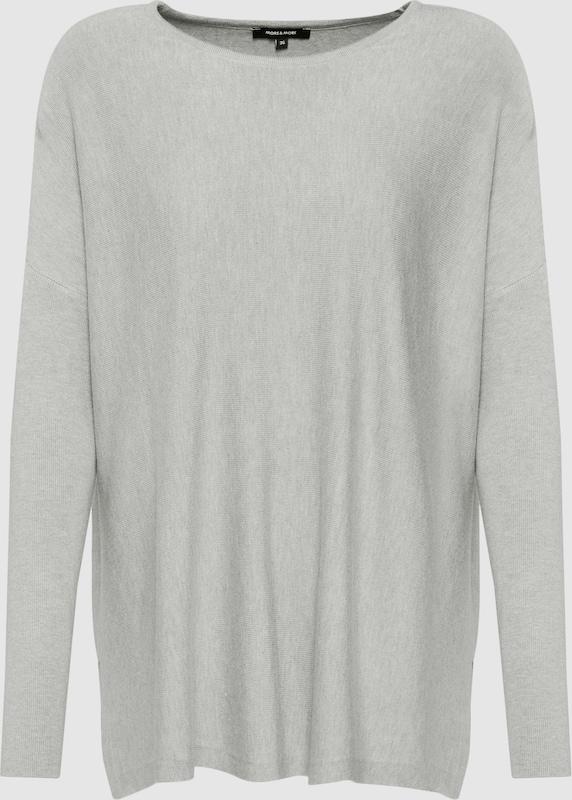 MORE & MORE Pullover in silbergrau  Bequem und günstig