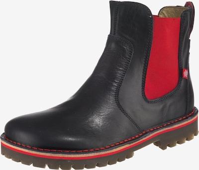 Grünbein Chelsea Boots in navy / rot, Produktansicht