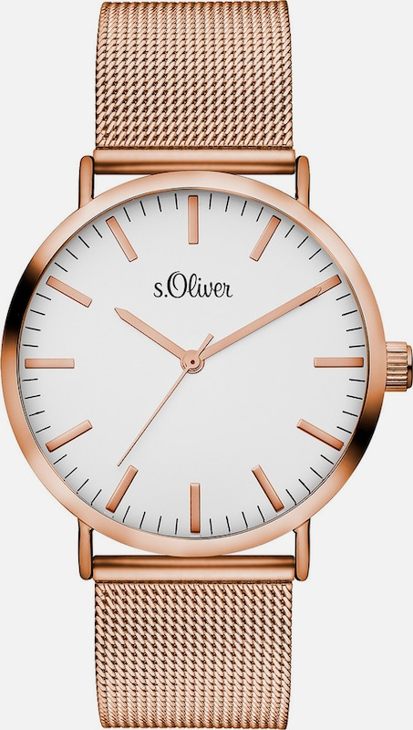 s.Oliver RED LABEL Armbanduhr, »SO-3146-MQ«