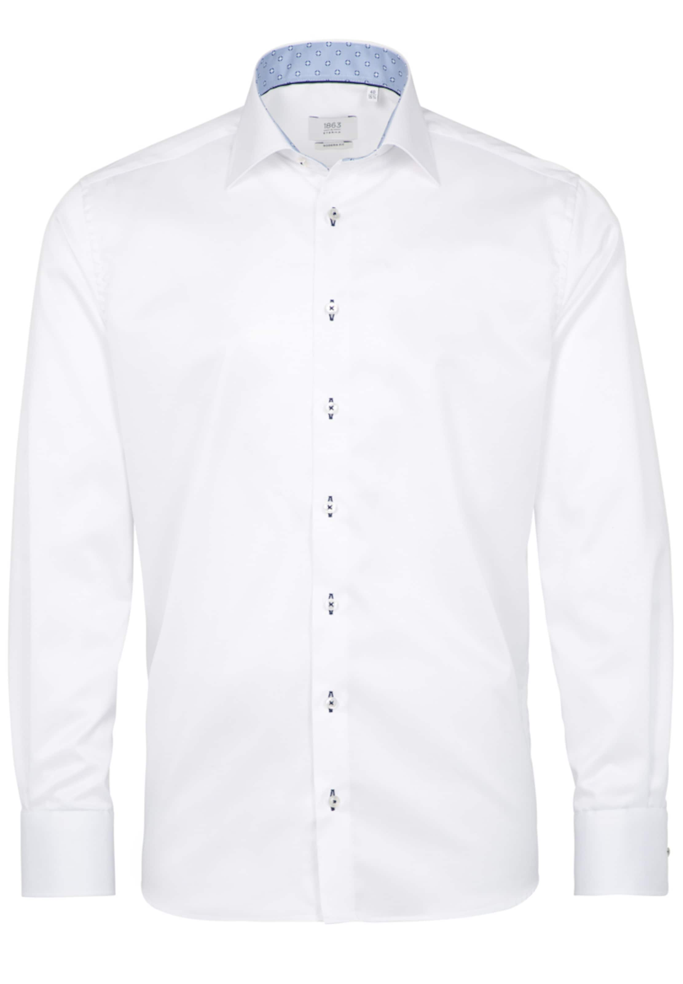 In Weiß Hemd Langarm Fit Eterna Modern JcFK1l