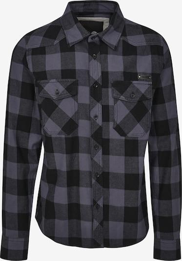 Brandit Hemd in silbergrau / dunkellila / schwarz, Produktansicht