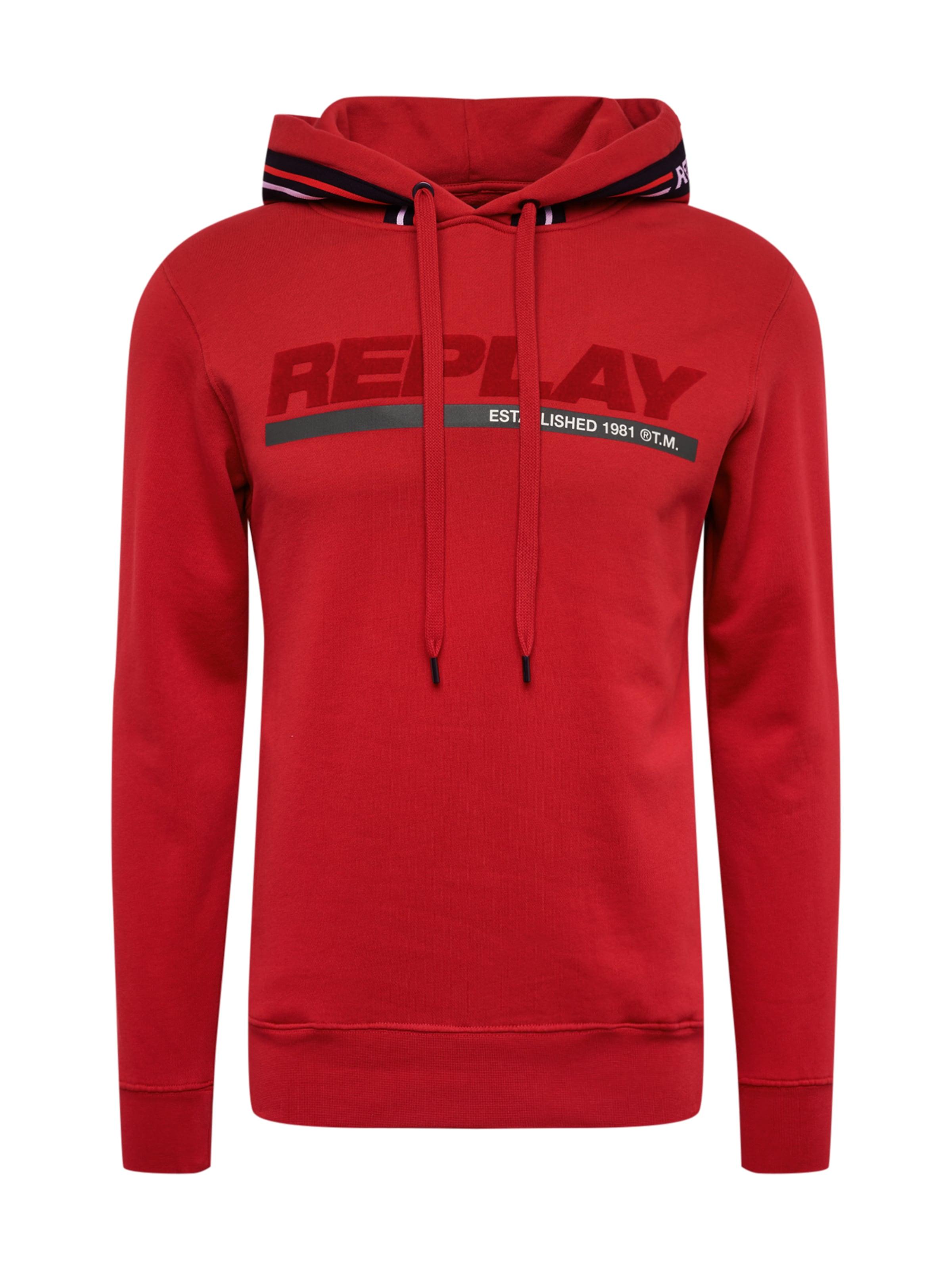 Replay Replay Sweat Sweat En shirt shirt Rouge Ie29HbWYED