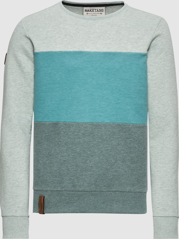 Naketano Sweatshirt in türkis   rauchgrau   hellgrau  Markenkleidung für Männer und Frauen
