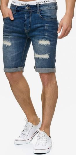 INDICODE JEANS Shorts 'Caden' in dunkelblau, Produktansicht