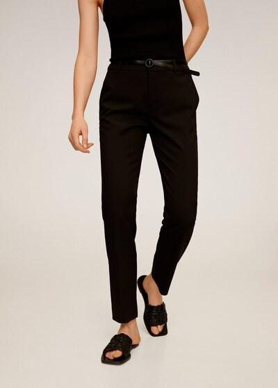 MANGO Hose 'Boreal' in schwarz, Modelansicht
