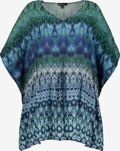 Bluză Ulla Popken pe albastru / albastru închis / verde / alb, Vizualizare produs