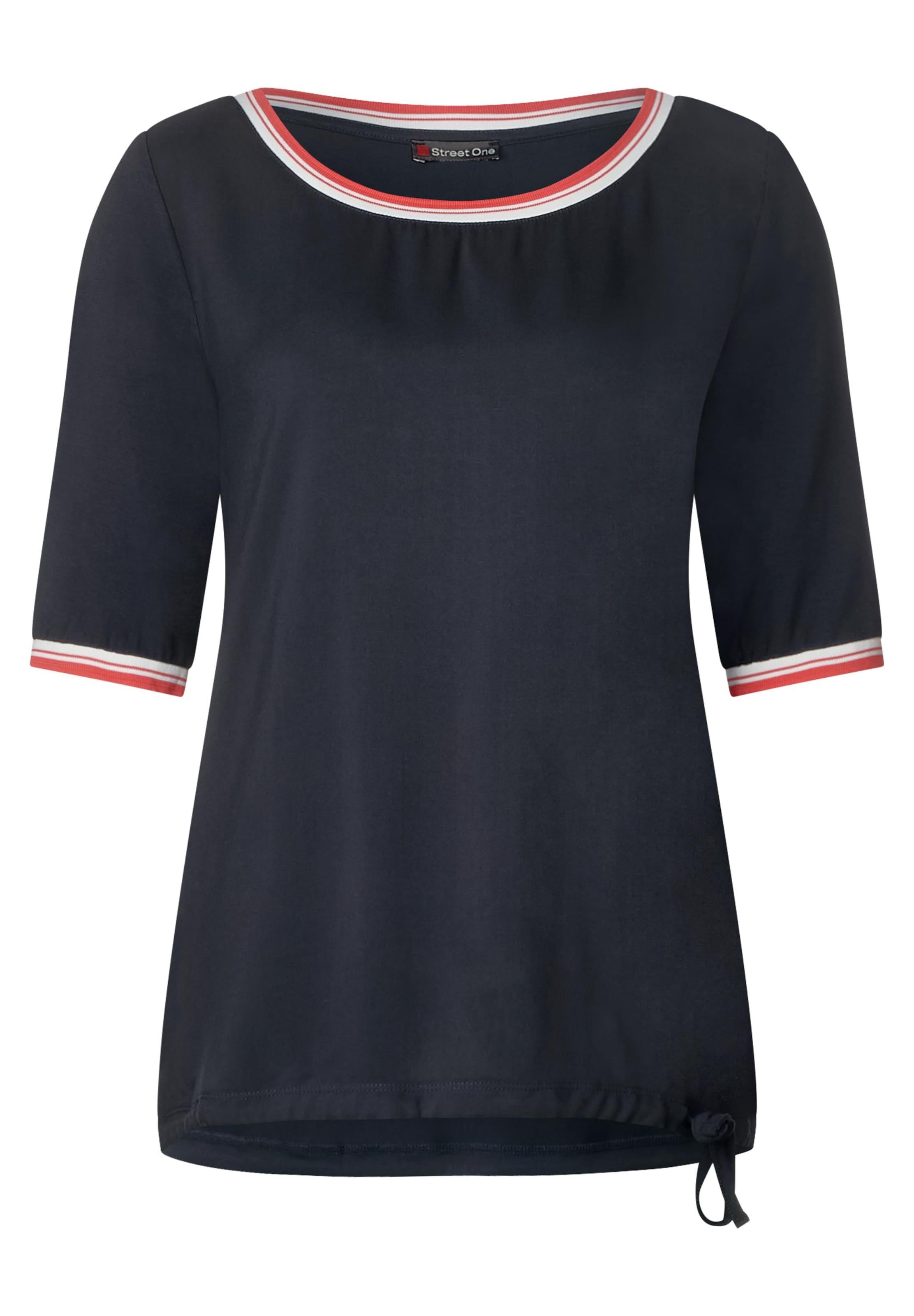 Shirt One DunkelblauOrangerot Street Weiß In MpzSUVq