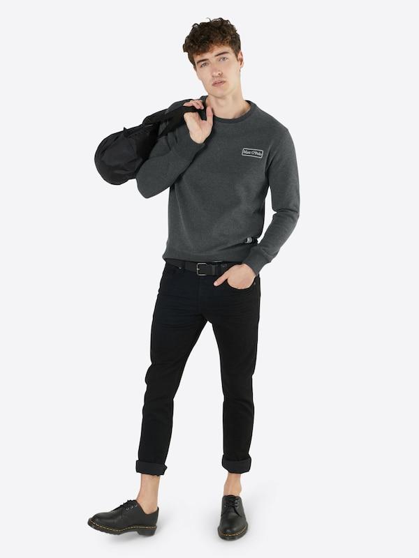 Marc O'Polo Sweatshirt 'Crew neck, flatlock and rib details, art 65 CO 35'