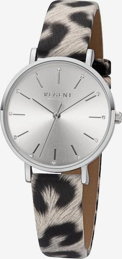 REGENT Uhr 'BA-651 3224.78.11' in hellgrau / schwarz / silber, Produktansicht