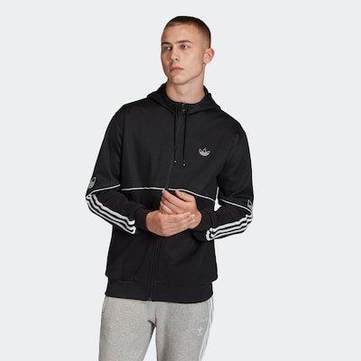 ADIDAS ORIGINALS Sweatvest in de kleur Zwart / Wit: Vooraanzicht