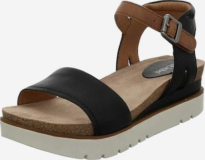 JOSEF SEIBEL Sandale in hellbraun / schwarz, Produktansicht