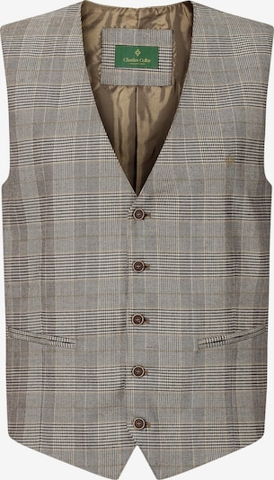 Charles Colby Weste 'Duke Edward' in hellbraun / grau / weiß, Produktansicht
