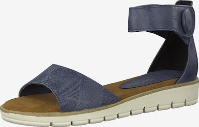 MARCO TOZZI Sandale in blau: Frontalansicht
