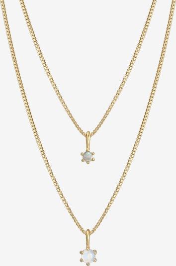 ELLI PREMIUM Halskette Edelsteinkette, Layer in goldgelb / gold, Produktansicht