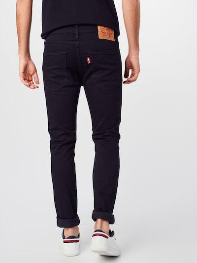 LEVI'S Jeans '512 SLIM' in black denim: Rückansicht